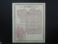 Indiana Maps, 1876 Counties of Pike or Gibson, Double Sided N2#74