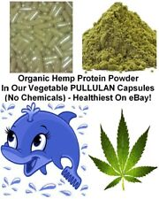 Pure Hemp Protein Vegan Capsules, Natural Organic Sourced Vegetarian Fatty Acids