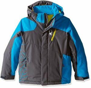 Brand New Spyder Boy's Guard Jacket  - Polar/Electric Blue/Sulfur - Size 18