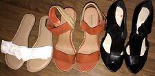 Womens Heels/platforms/Sandals:slip Ons/Sz 6/Lot Of 3/