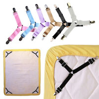 HK- 4Pcs Elastic Cover Blanket Grippers Holder Bed Sheet Clip Mattress Fasteners
