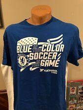 Chelsea FC A rayas Azul Polo oficial para hombre