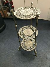 Hollywood Regency 3 Tier Brass Dragon Plant Stand