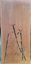 Sichtschutz Sichtschutzwand Schmuckblech Gabione Bambus 183cm Edelrost Rost