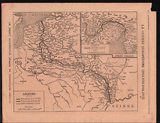 WWI Map Carte France Austria Italy/Serbia Bulgaria Greece Asia 1917 ILLUSTRATION