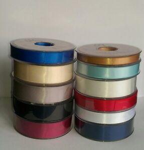 SUPER RIBBON (SR) - Premium Double Faced Satin Ribbon, various sizes and colours