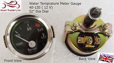 "2"" 52mm Cromo Vintage coche universal del automóvil 40-120? la temperatura del agua-M616"