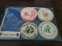 46 Assorted Package Of Vintage Amish Coasters Garden Spot Gifts