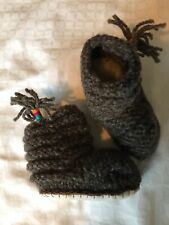 BN Fur Lined Baby Boots Peru/Chile Like Royal Baby Archie Also Selling Alpaca