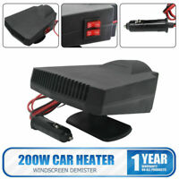 2 In 1 Car Portable Heating Heater Fan Defroster Demister DC 12V 200W Portable