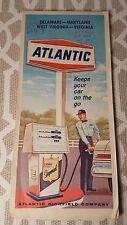 1967 ATLANTIC Richfield Co Road Hwy Map Of DE MD WVA VA Gas Service Station !!!