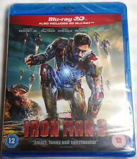 IRON MAN 3 Brand New 3D BLU-RAY (and 2D) 2-Disc Set Marvel Cinematic Universe
