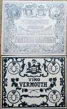PAIR Printer's Proof 1930s Bottle Labels - Vermouth Fratelli Sanguino