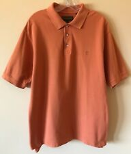 Timberland Polo Shirt Logo Orange Men's Size M EXCELLENT