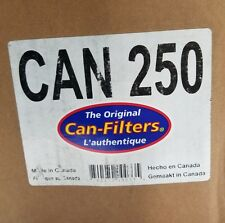 """CAN-FILTER, CAN 250, 8""""x6.5"""" Inline Exhaust,  Air Activated Carbon Filter, Odor"""