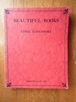 Beautiful Books - Cyril Davenport. *Good 1929 1st edition card covers*