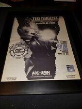 Ted Nugent Commando Radio Rare Original Radio Promo Poster Ad Framed!