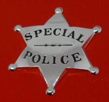 More details for sterling silver franklin 1987 police six pointed star badge special police 14.7g