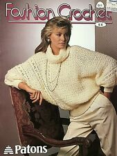 Paton's Fashion Crochet, 1986, 11 crocheted sweater designs