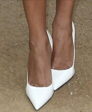 *wHiTe LeATheR New Pointy Toe 7.5 CARRIE Stilettos Heels PUMP GuESS Wedding