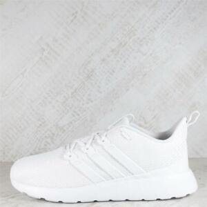 Mens adidas Questar Flow Triple White Trainers (50C24) RRP £69.99