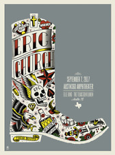 Eric Church 9/7/17 Poster Austin360 Amp Austin Texas Signed A/P Artist Proof