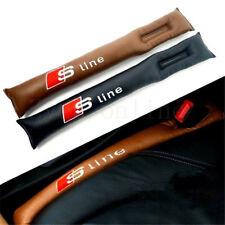 2x Black SLine Car Seat Gap Fillers Prevent Key Mobile Fall Into Gap A3 A4 A5 A6