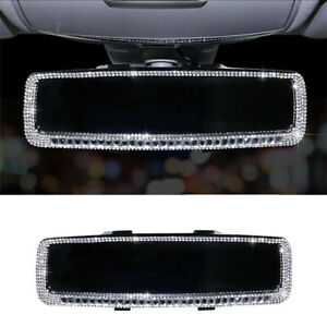 Rhinestone Car Interior Rearview Mirror Cover Bling Rhinestone Decor Accessories