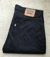 Mens Levis 752 Black Straight Leg Brushed Denim Jeans W 36 L 31