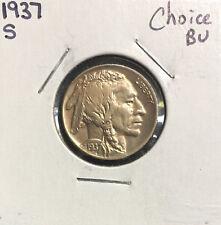 1937 S Buffalo Nickel ~ *Choice BU* ~  Boldly Detailed Original Coin