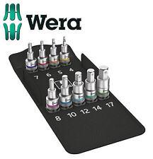 NEUF Wera 9 pièces 1.3cm SQ DR métrique HF HEX / clé allen ensemble de douilles