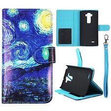 Wallet Blue Design LG Flex 2 LS996 Syn Leather Case Cover Flip Pouch Flip ID Pou