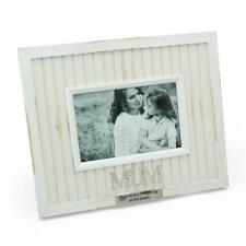 Personalised Mum Photo Frame White Vintage Rustic Style With Sentiments 61470-P