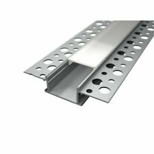 Pianeta Led PALL200-LP3050O Profilo in Alluminio da Incasso a Scomparsa in Cartongesso per Doppia Striscia a LED