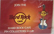 HARD ROCK CAFÉ HARDROCK HRC PIN COLLECTOR CLUB HRCPCC MINI GUITAR ON CARD