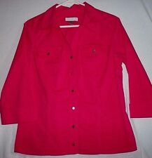 Women's Christopher & Banks Button Down SHIRT 3/4 Sleeve BLOUSE / TOP  Size M
