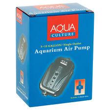 NEW 5-15 Gallon AQUARIUM AIR PUMP Single Outlet with Check Valve HIGH QUALITY