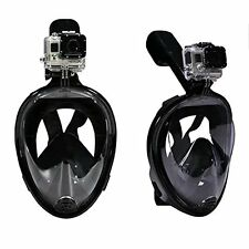美國入口Snorkel Mask-SizeM中碼180 GoPro compatible-Full Face Breathing Design 潛水面具