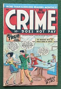 Crime Does Not Pay #58 Lev Gleason Pub Golden Age Thomas Dun used in SOTI vg/f