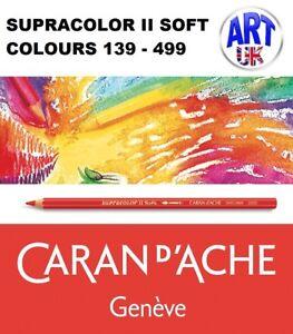 Caran d'Ache SUPRACOLOR II SOFT water soluble artists colour pencils aquarelle