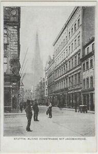 Stettin Szczecin Kleine Domstraße mit Jacobikirche Ansichtskarte 1905