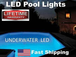 Swimming Pool Accessories - UNDERWATER Submersible LED Accent Lighting Disco NEW