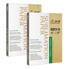 220 Sheets A Sub Sublimation Paper 11x17 120g Inkjet Heat Transfer T Shirts Mugs
