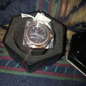 Casio Women's BABY-G G-MS MSGC100G-1A Black Strap Rose Gold Solar Wrist Watch