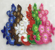 12pcs/set Flowers Pattern Embroidered Cloth Iron On Patch Sew Motif AppliqueDIY
