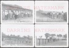 Lot of 4 Vintage Snapshot Photos Men Shooting Gun Range Target Practice 692610