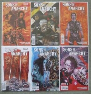 SONS OF ANARCHY #1-6 SET..GOLDEN/COUCEIRO..BOOM STUDIOS 2013 1ST PRINT..VFN+
