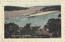 EARLY SYDNEY POSTCARD of THE SPIT  / COLOUR circa 1920's