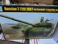 TRUMPETER (# 00925)1/16th SCALE RUSSIAN T-72 B1 MBT & REACTIVE ARMOR MODEL KIT