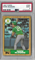 Mark McGwire 1987 Topps PSA Graded Rookie Card 9 Mint